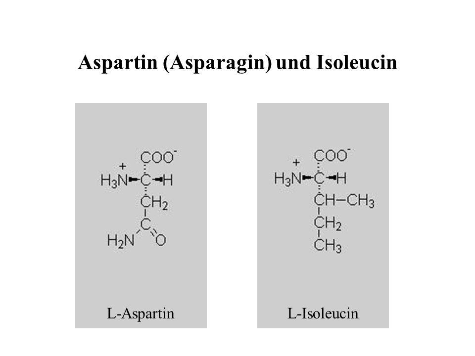 Aspartin (Asparagin) und Isoleucin