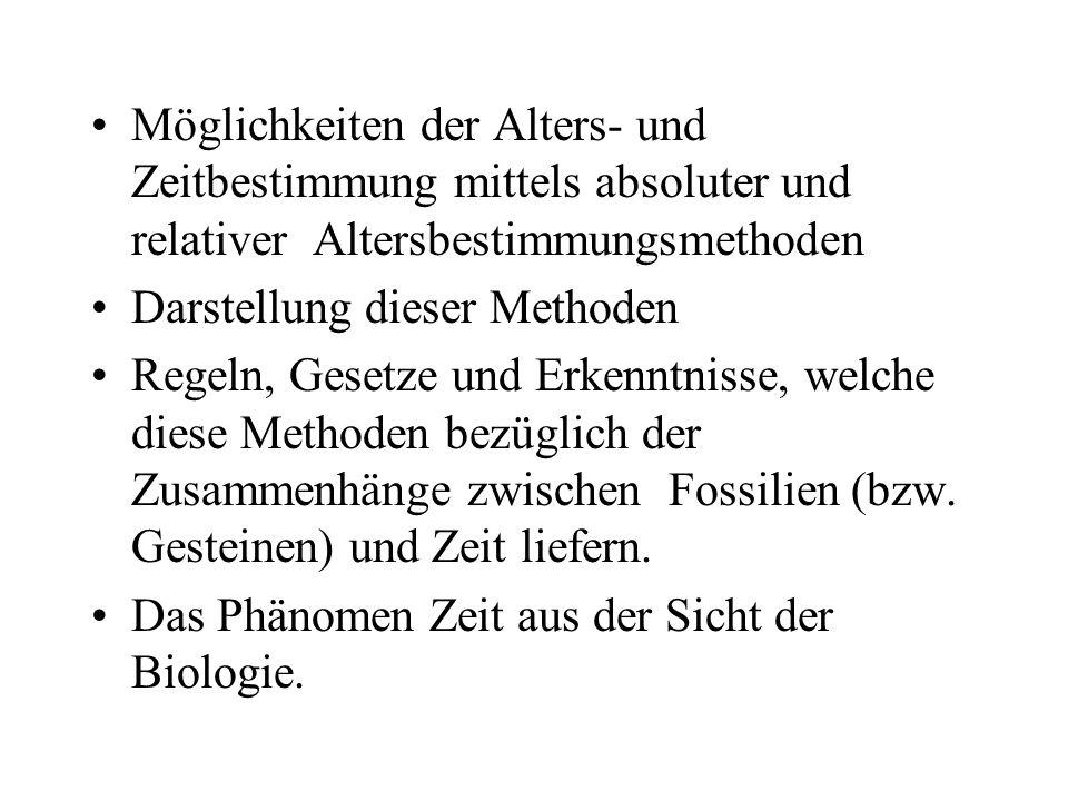 Berühmt Relatives Alter Der Gesteine Arbeitsblatt Fotos ...