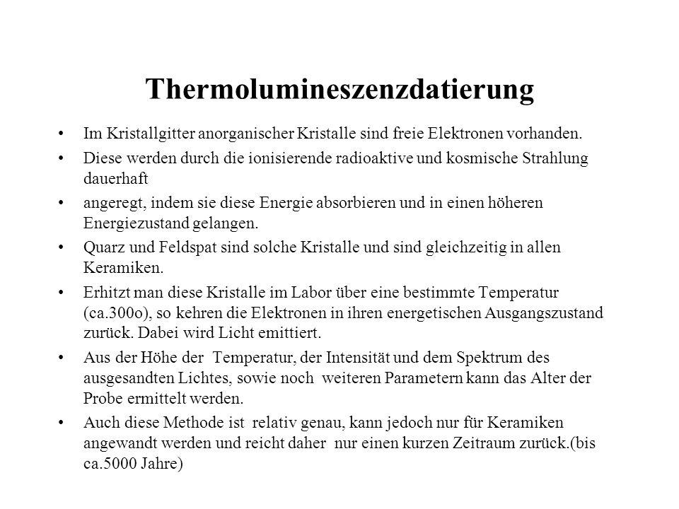 Thermolumineszenzdatierung