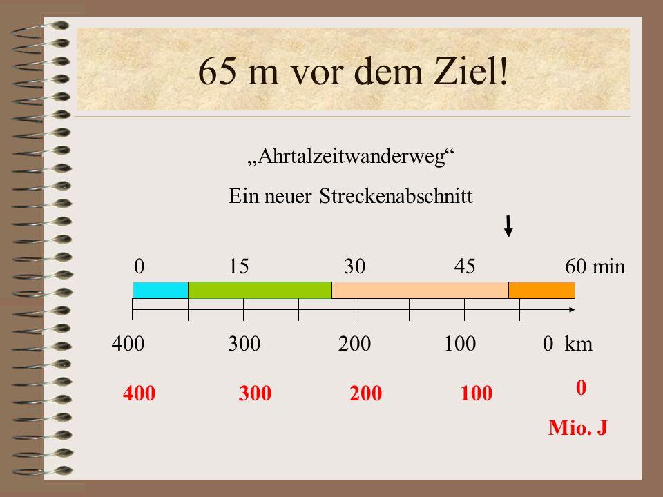 """65 m vor dem Ziel! """"Ahrtalzeitwanderweg Ein neuer Streckenabschnitt"""