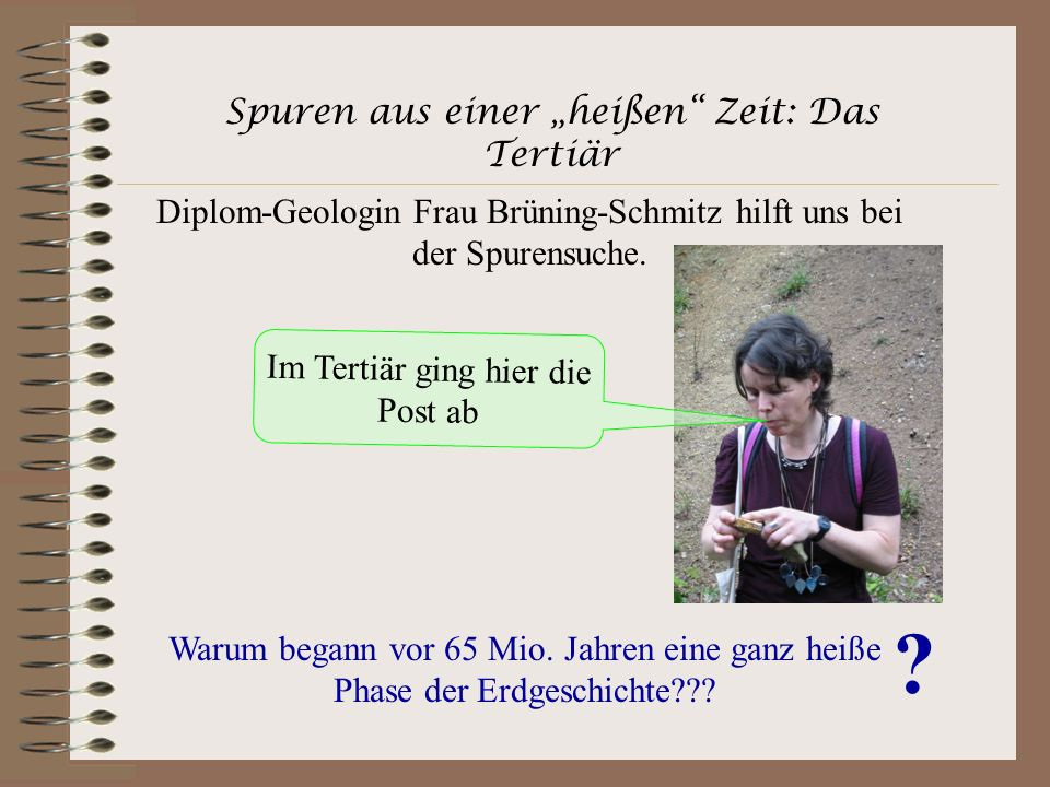 """Spuren aus einer """"heißen Zeit: Das Tertiär"""