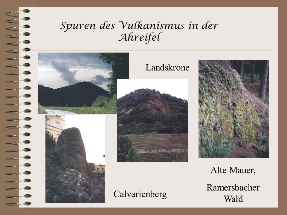 Spuren des Vulkanismus in der Ahreifel