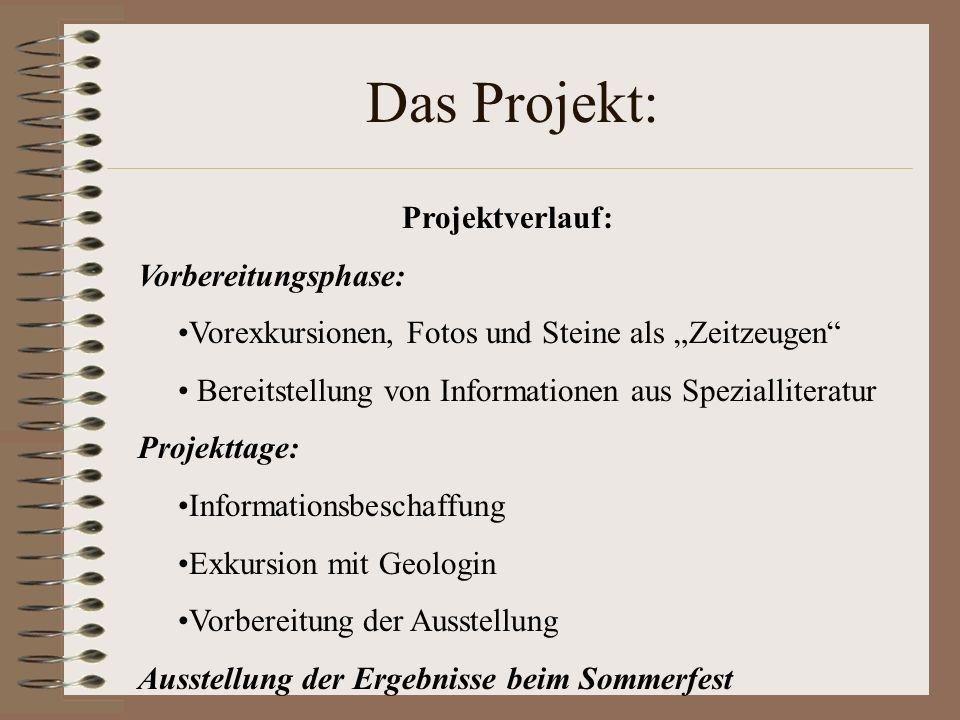 Das Projekt: Projektverlauf: Vorbereitungsphase: