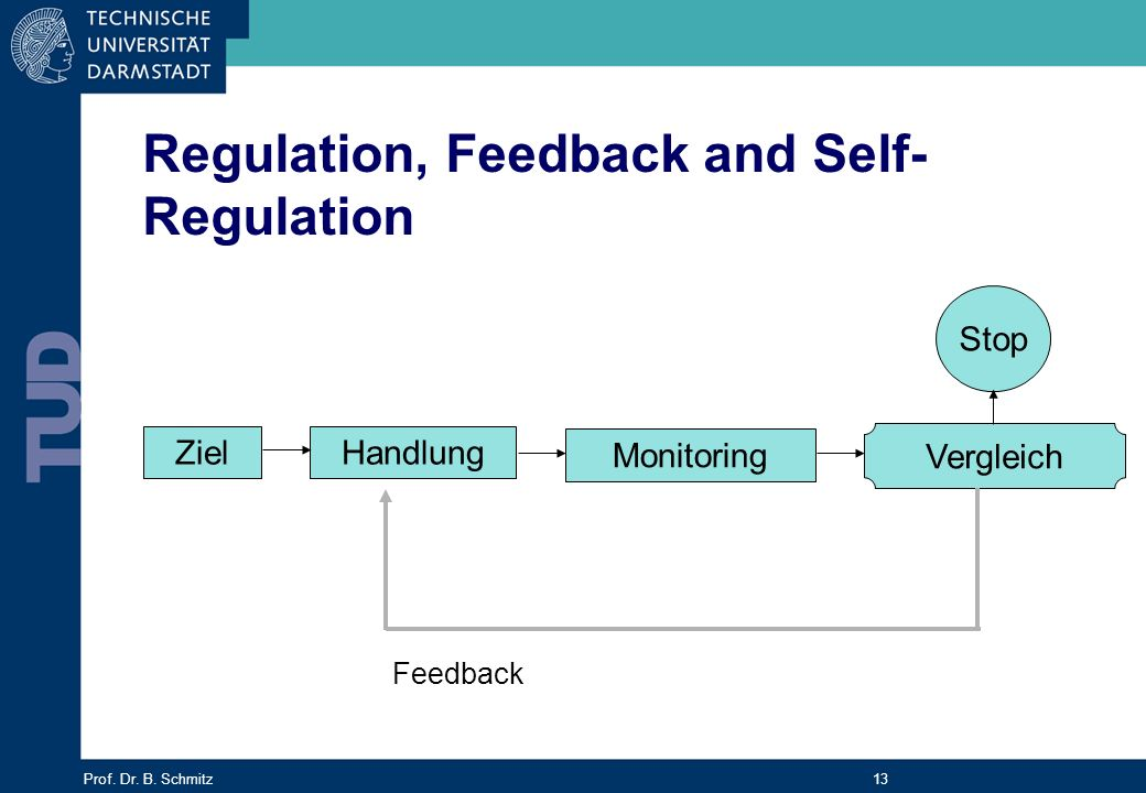Regulation, Feedback and Self-Regulation