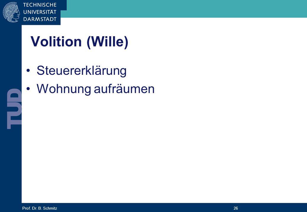Volition (Wille) Steuererklärung Wohnung aufräumen