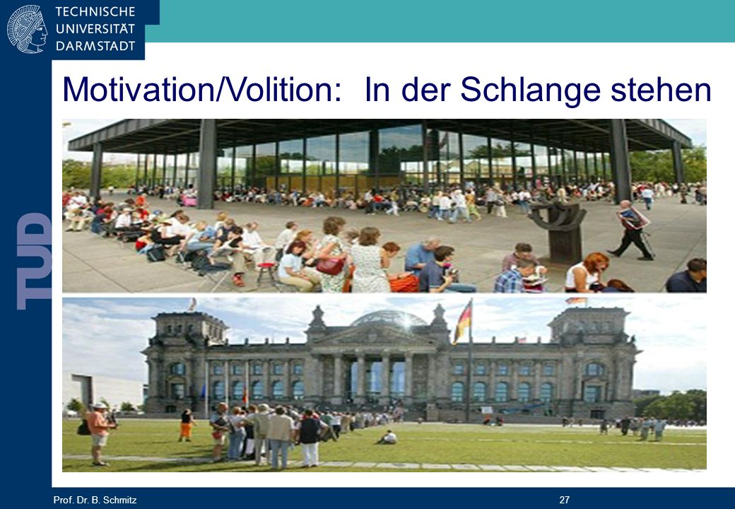 Motivation/Volition: In der Schlange stehen