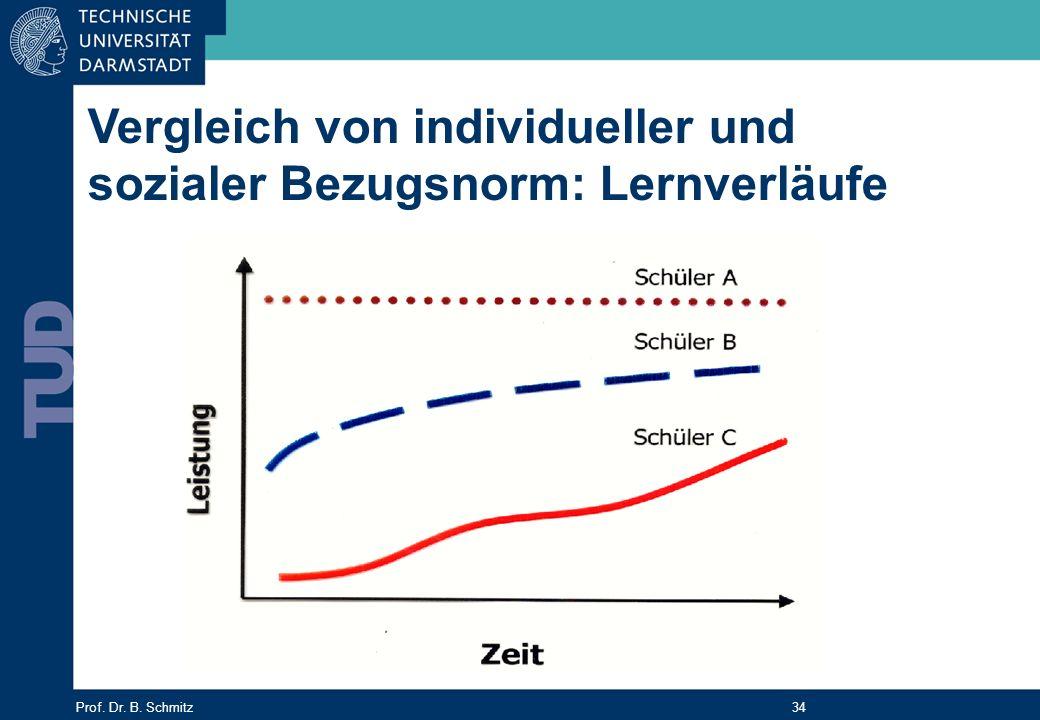 Vergleich von individueller und sozialer Bezugsnorm: Lernverläufe