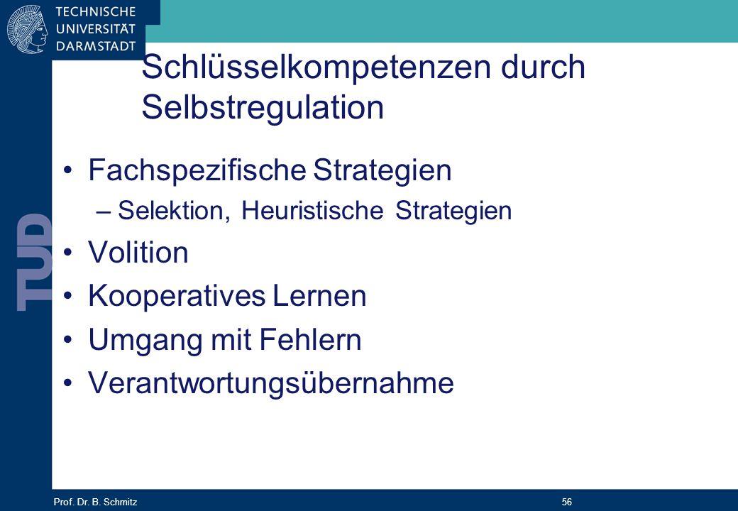 Schlüsselkompetenzen durch Selbstregulation