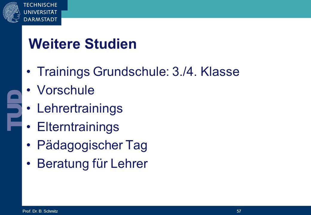 Weitere Studien Trainings Grundschule: 3./4. Klasse Vorschule