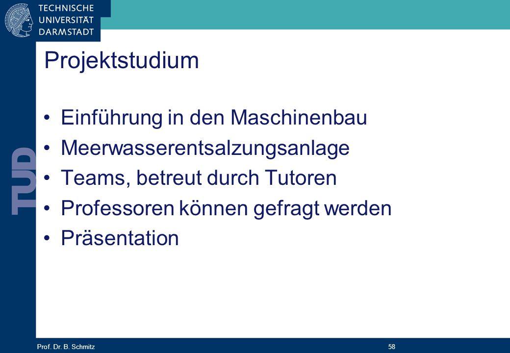 Projektstudium Einführung in den Maschinenbau