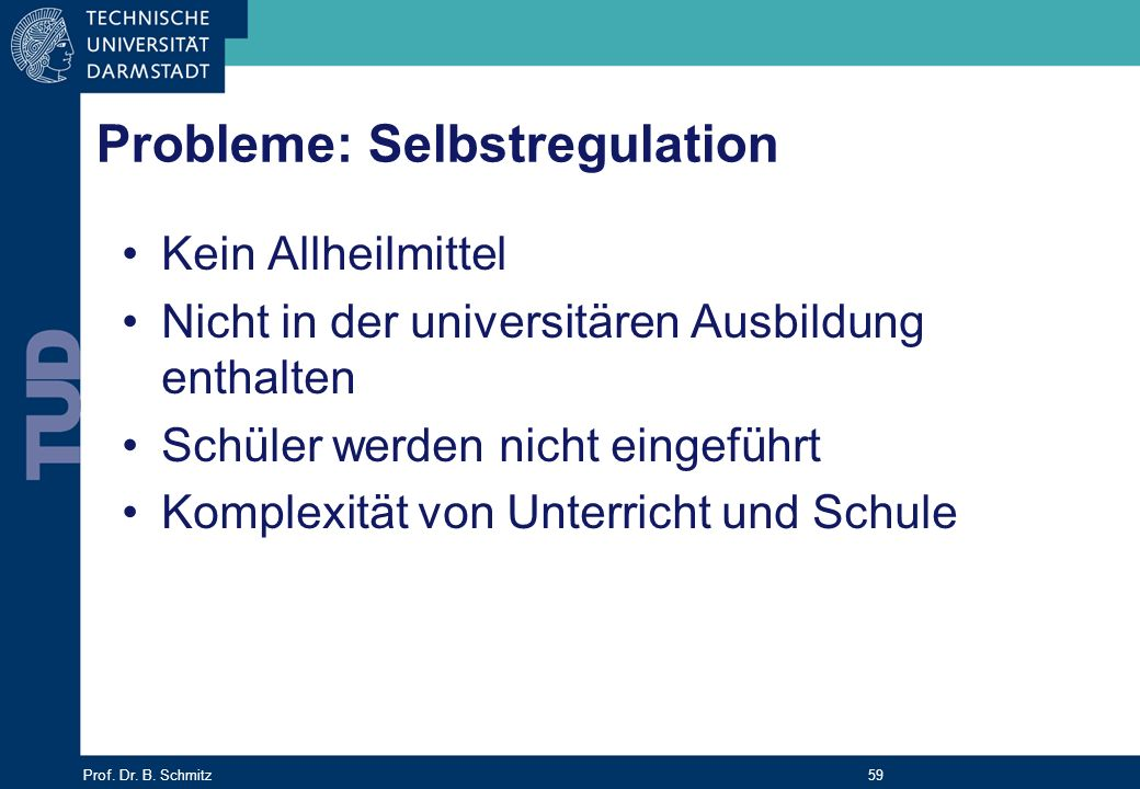 Probleme: Selbstregulation