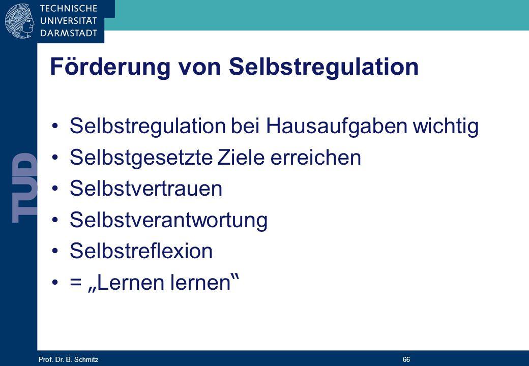Förderung von Selbstregulation
