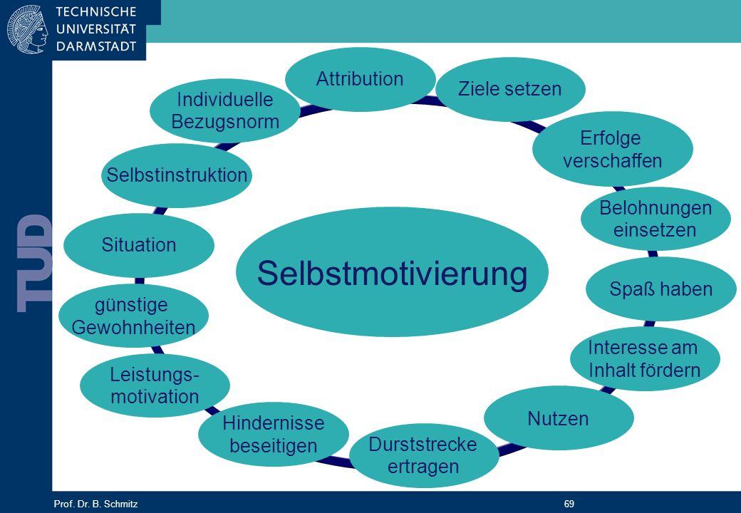 Selbstmotivierung Attribution Ziele setzen Individuelle Bezugsnorm