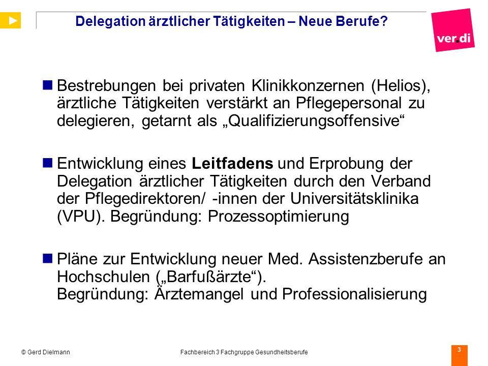 Delegation ärztlicher Tätigkeiten – Neue Berufe