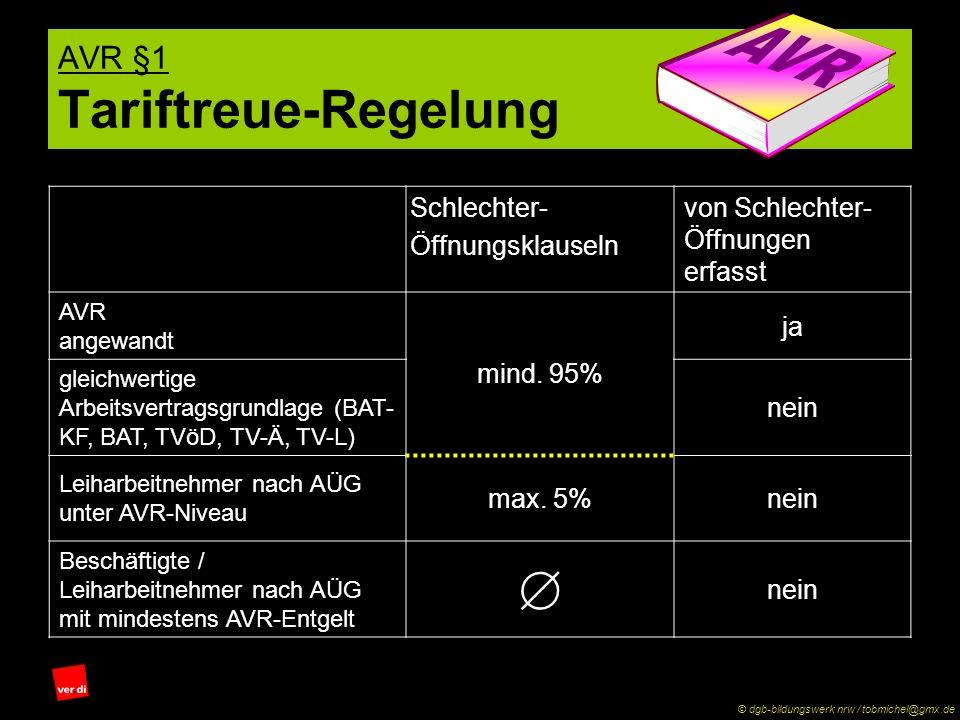 AVR §1 Tariftreue-Regelung