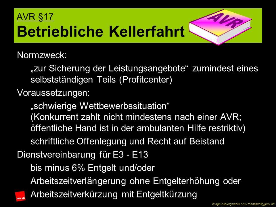 AVR §17 Betriebliche Kellerfahrt