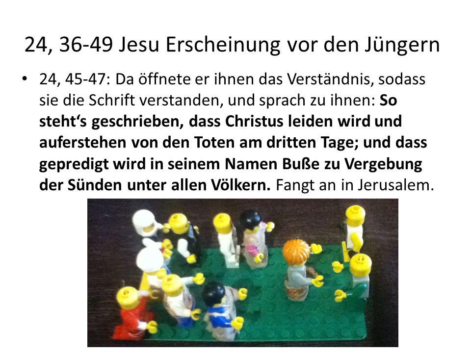 24, 36-49 Jesu Erscheinung vor den Jüngern