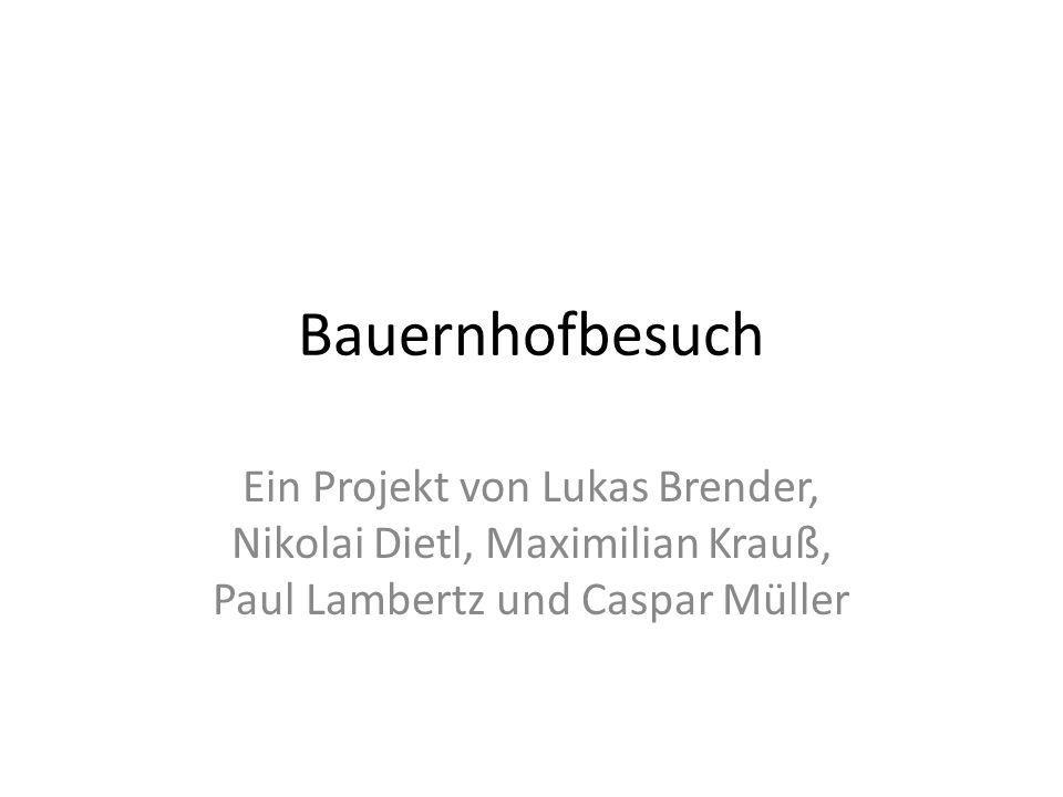 Bauernhofbesuch Ein Projekt von Lukas Brender, Nikolai Dietl, Maximilian Krauß, Paul Lambertz und Caspar Müller.