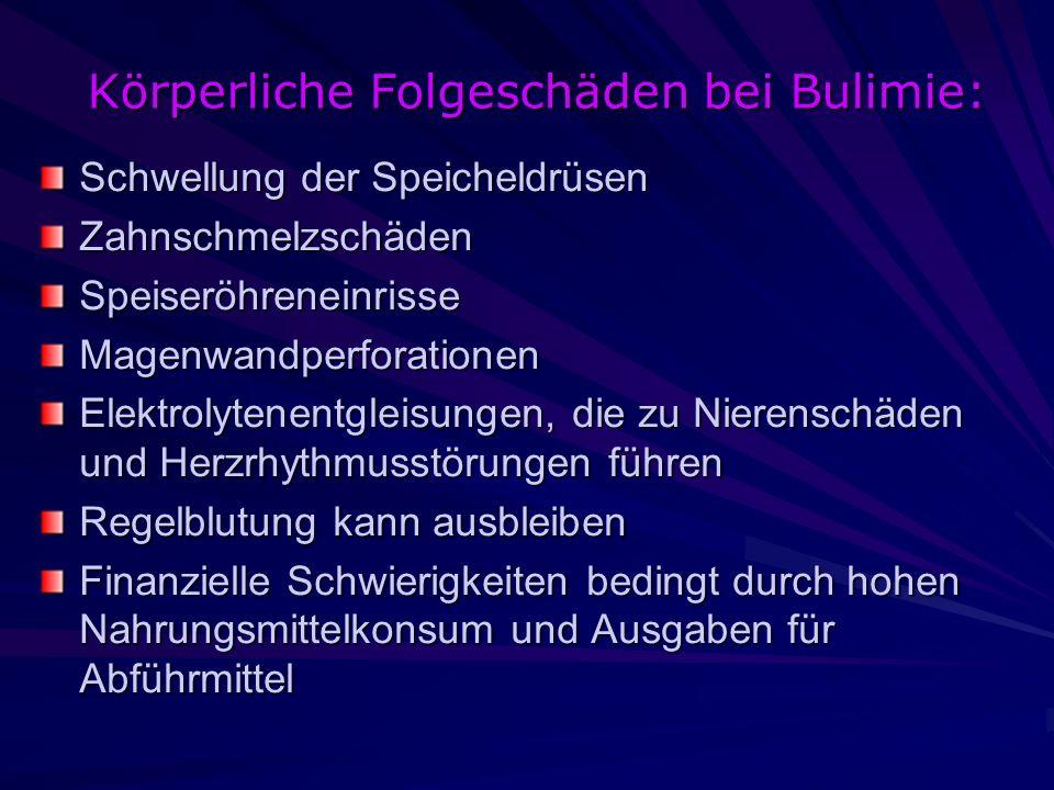 Körperliche Folgeschäden bei Bulimie:
