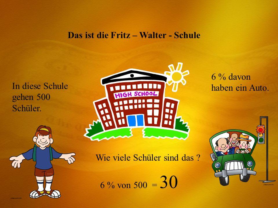 Das ist die Fritz – Walter - Schule
