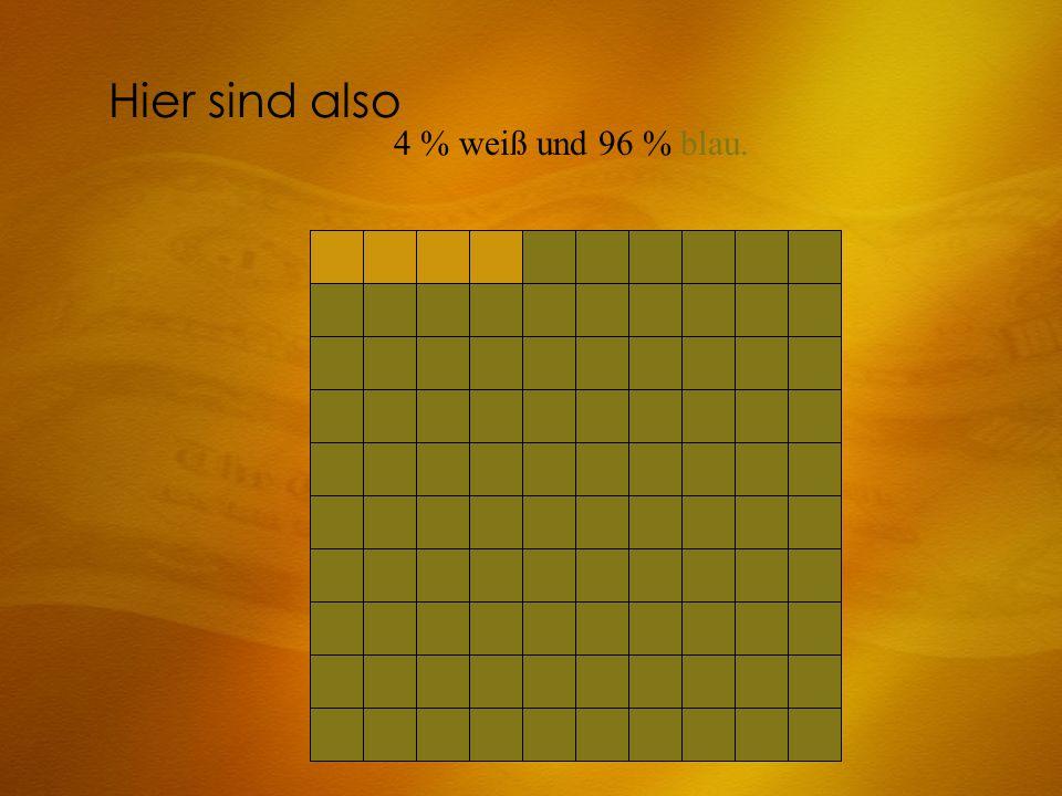 Hier sind also 4 % weiß und 96 % blau.