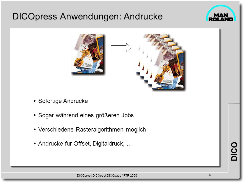 DICOpress DICOpack DICOpage / RTP 2000