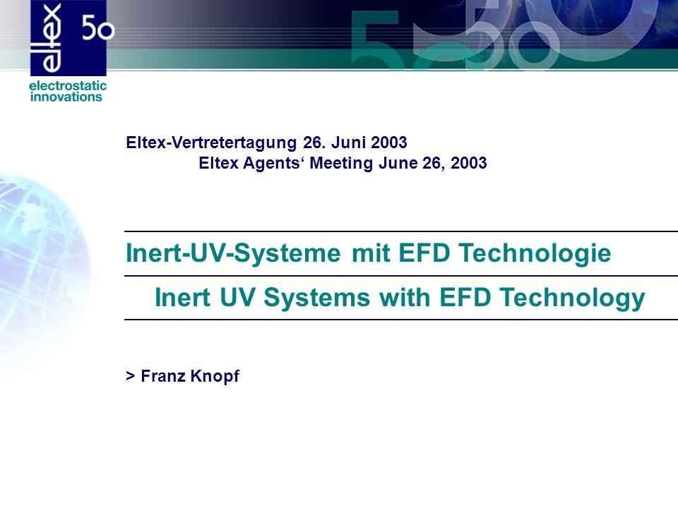 Inert-UV-Systeme mit EFD Technologie