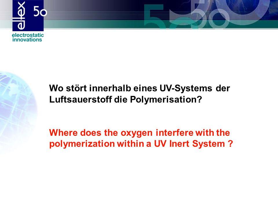 Wo stört innerhalb eines UV-Systems der Luftsauerstoff die Polymerisation