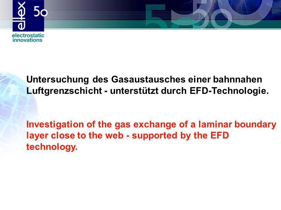 Untersuchung des Gasaustausches einer bahnnahen Luftgrenzschicht - unterstützt durch EFD-Technologie.