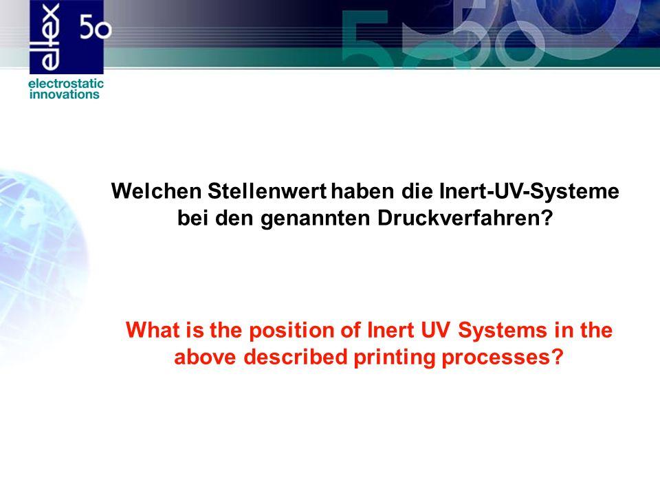 Welchen Stellenwert haben die Inert-UV-Systeme bei den genannten Druckverfahren
