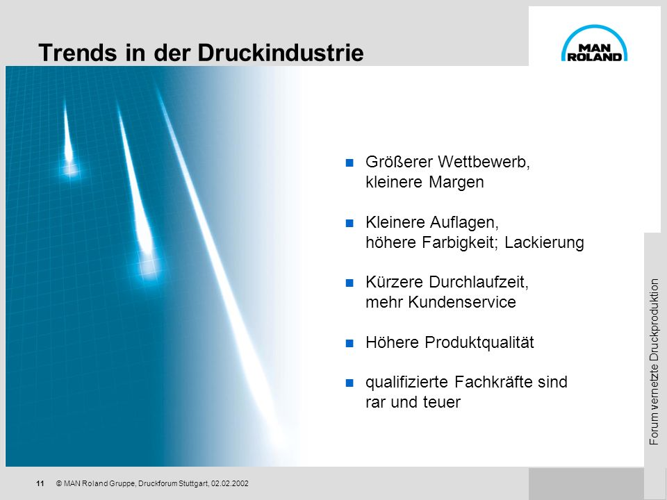 Trends in der Druckindustrie