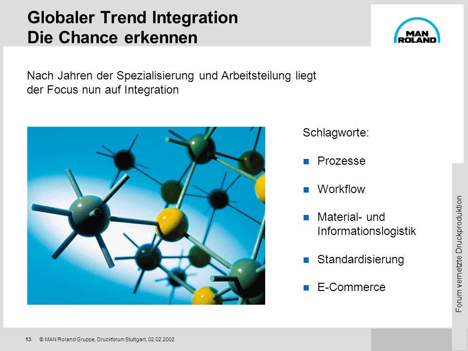 Globaler Trend Integration Die Chance erkennen