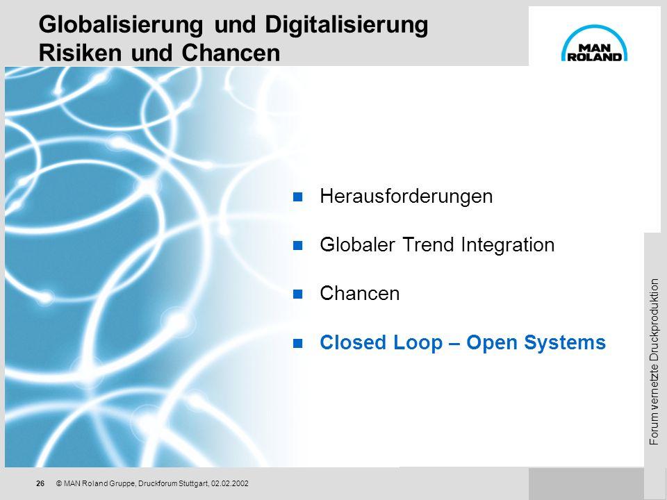 Globalisierung und Digitalisierung Risiken und Chancen