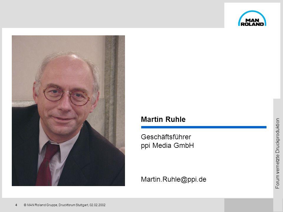 Martin Ruhle Geschäftsführer ppi Media GmbH Martin.Ruhle@ppi.de
