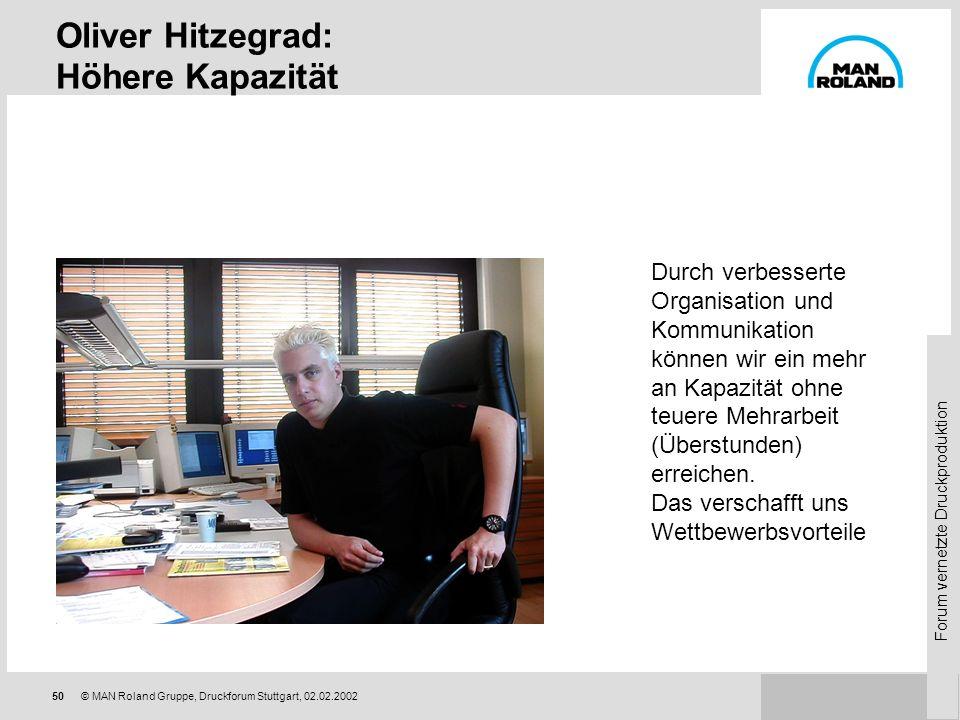 Oliver Hitzegrad: Höhere Kapazität
