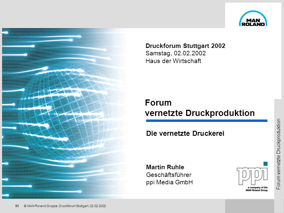 Forum vernetzte Druckproduktion