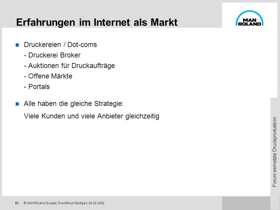 Erfahrungen im Internet als Markt