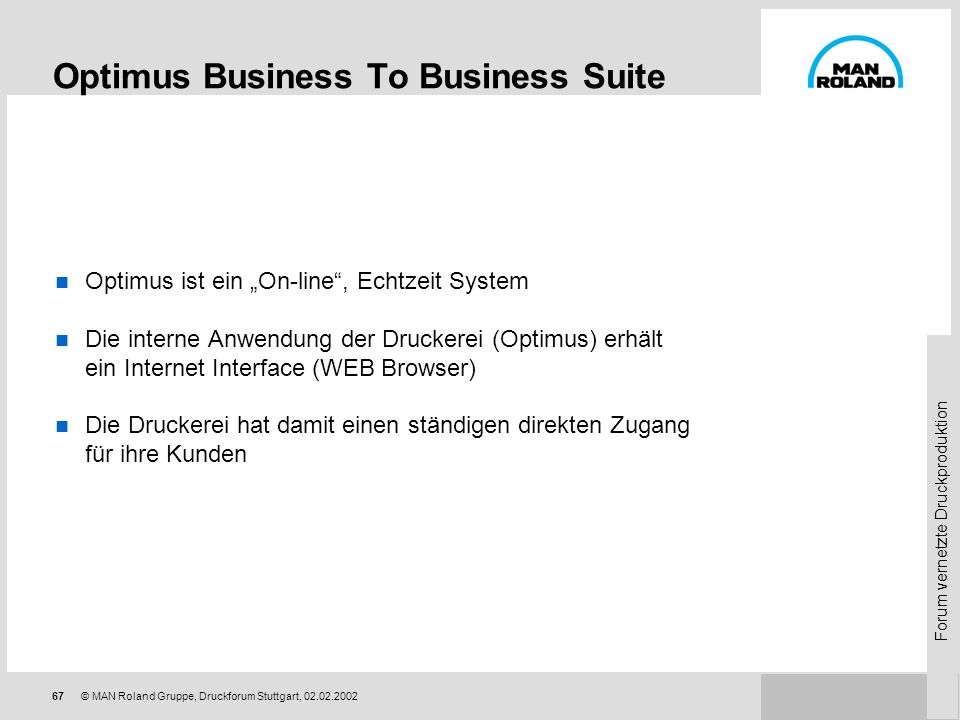 Optimus Business To Business Suite