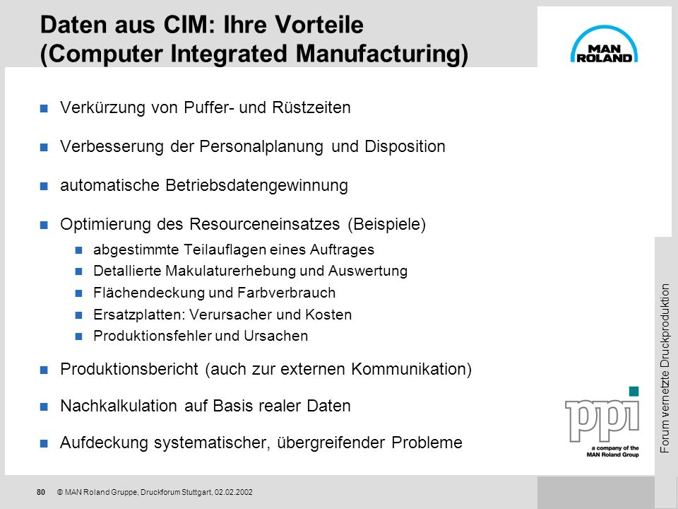 Daten aus CIM: Ihre Vorteile (Computer Integrated Manufacturing)