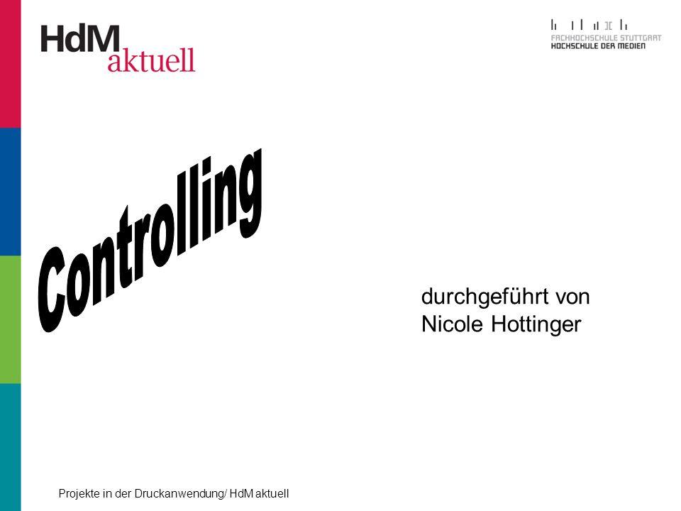 Controlling durchgeführt von Nicole Hottinger