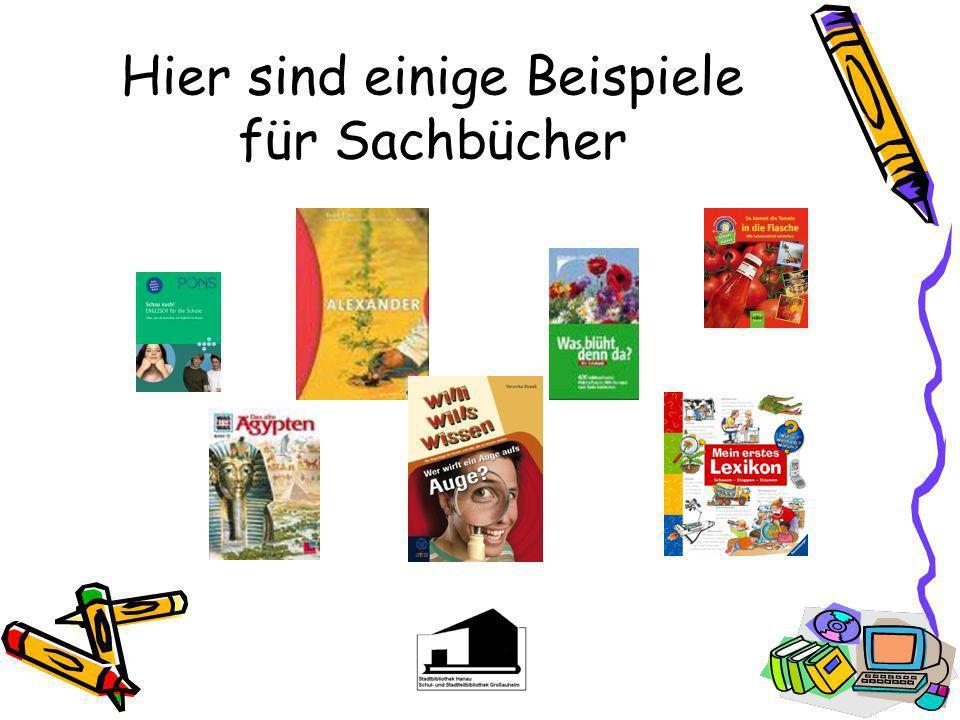 Hier sind einige Beispiele für Sachbücher