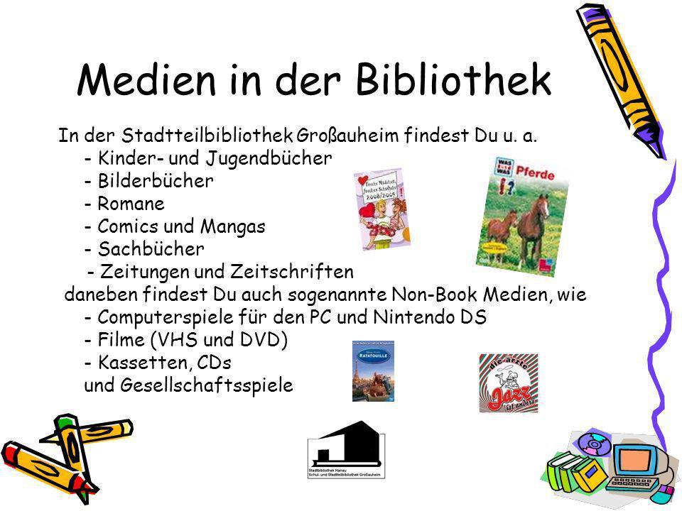 Medien in der Bibliothek