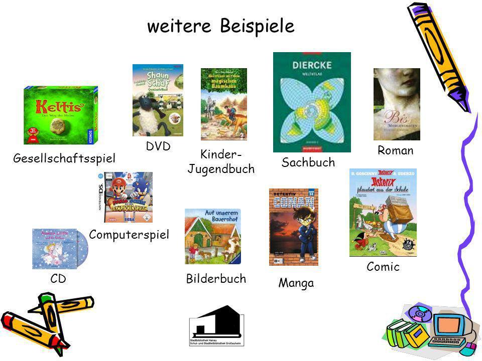 weitere Beispiele DVD Roman Kinder- Jugendbuch Gesellschaftsspiel