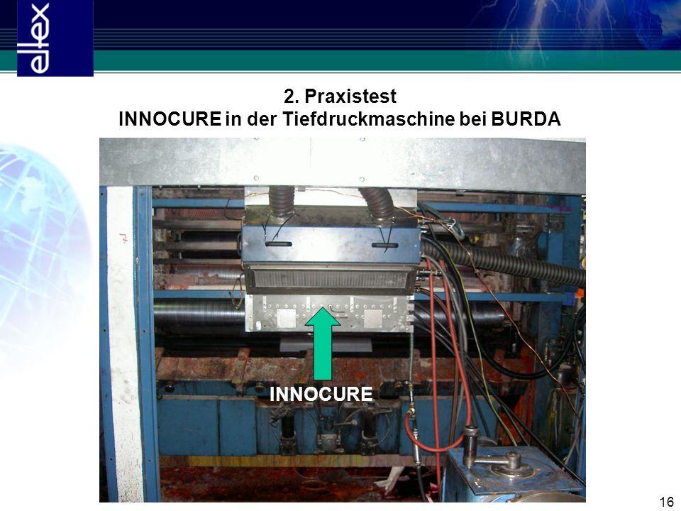 INNOCURE in der Tiefdruckmaschine bei BURDA