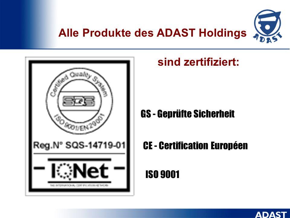 Alle Produkte des ADAST Holdings