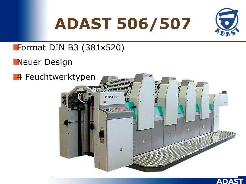 ADAST 506/507 Format DIN B3 (381x520) Neuer Design 4 Feuchtwerktypen