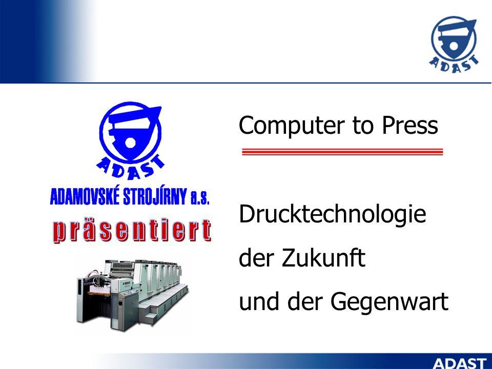 Computer to Press Drucktechnologie der Zukunft und der Gegenwart präsentiert
