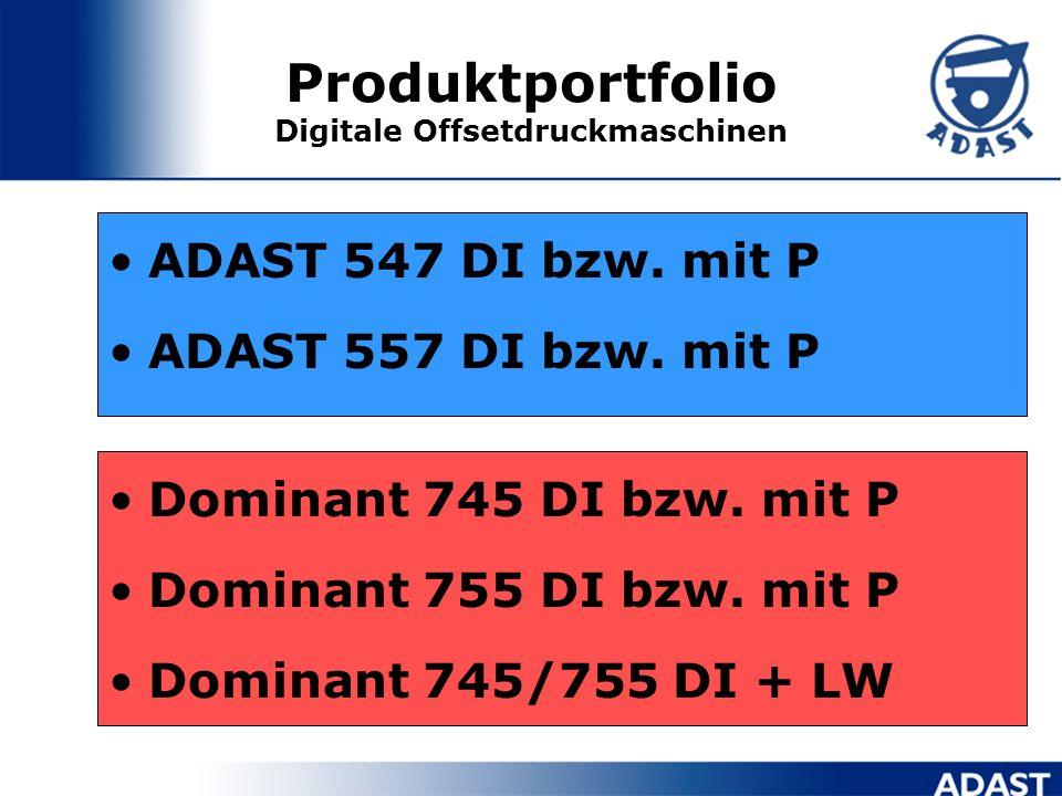 Produktportfolio Digitale Offsetdruckmaschinen