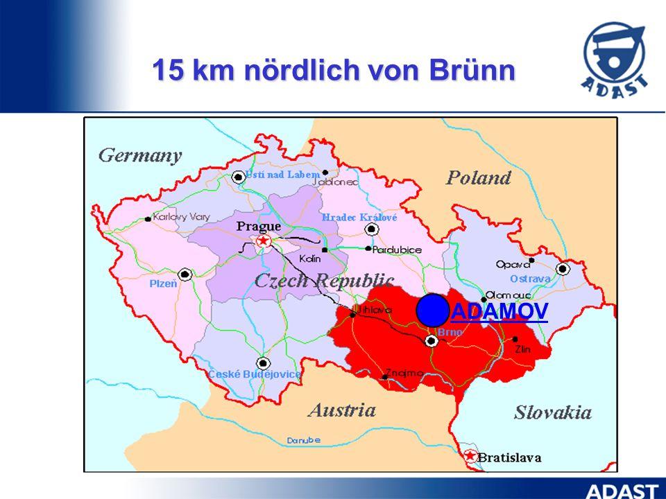 15 km nördlich von Brünn ADAMOV