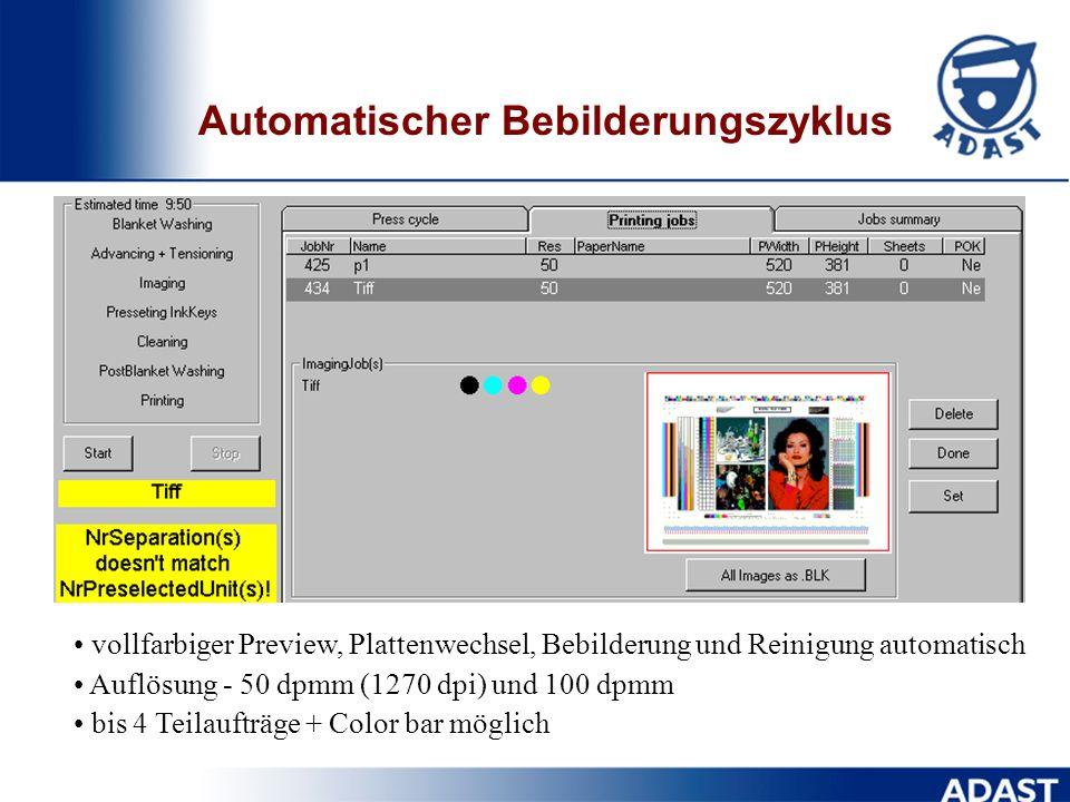 Automatischer Bebilderungszyklus